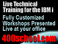 Classes at your offices. IBM i, iSeries AS/400?  The 400 School, Inc.
