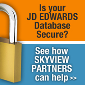 Is Your JD EDWARDS Database Secure? See how SKYVIEW PARTNERS can help!